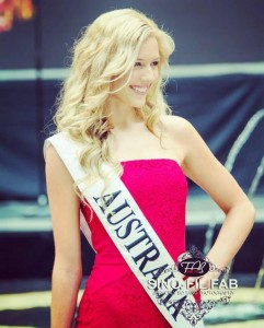 Jessica Peart (Miss Austarlia Global and winner of Miss Global International 2015)