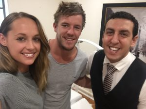 Luke Parker (Sydney Swans) and partner Kate